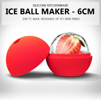 Harga Silicone Ice Ball Maker - 6cm (Red)