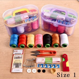 HOT Home Universal Portable Sewing Machine Needle and Thread Package Hand Stitching Sewing Storage Box DIY Sewing Kit Tool-Size 3 - intl