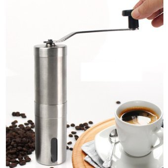 Harga New Coffee Grinder Convenient Stainless Steel Manual Detachable Easy to Assemble Coffee Machine Portable Coffee Mill Adjustable Ceramic Burr Manual 30g Coffee Powder Yield - intl