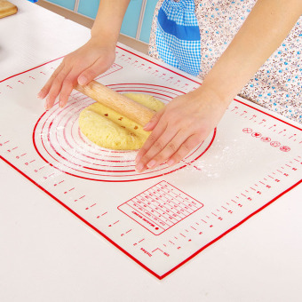 Soft high temperature resistant silica gel pad non stick baking mat dough tool slip mat insulation pad soft chopping board surface