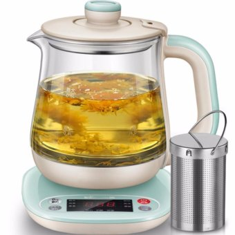 Harga Bear health pot YSH-A08H1 multifunctional insulation glass kettle 0.8L capacity (Light green) - intl