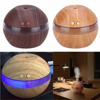 Harga Air Aroma Essential Oil Diffuser LED Ultrasonic Aroma Aromatherapy Humidifier Black - intl