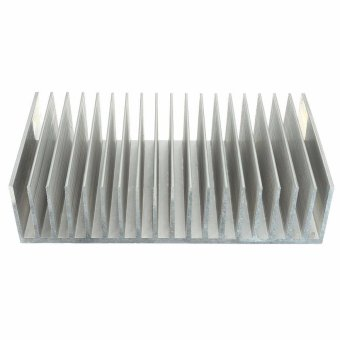 Harga ELE 182x100x45mm Aluminum Heat Sink Heatsink for High Power LED Amplifier Transistor - intl