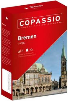 Harga The Nespresso ® compatible capsule: Copassio Bremen (Lungo, Intensity 8)