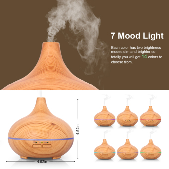 Harga Elegance Wood Ultrasonic Aroma Essential Oil Diffuser Humidifier Air Purifier 150ml -Light Wood Grain - intl