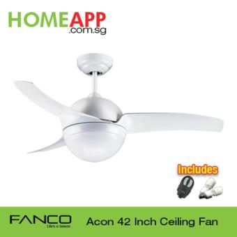 Harga Fanco Acon 42 Ceiling Fan with Light and Remote (White)