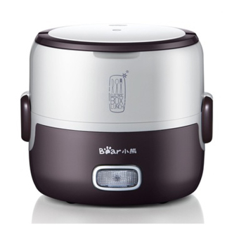 Harga Bear Premium Mini Electric Double Layer Insulation Heating Egg and Lunch Box Steamer & Rice Cooker DFH-S2016 1.3L Coffee