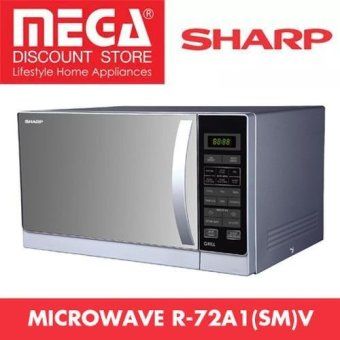 Harga Sharp R-72A1(Sm)V 25L Top Grill Microwave Oven