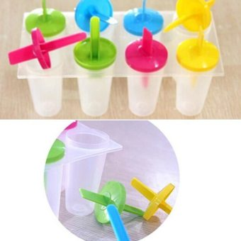 8 Cell Ice Cream Pop Iced Mold Popsicle Maker Lolly Icy Pole Mould Tray - 5