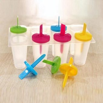 8 Cell Ice Cream Pop Iced Mold Popsicle Maker Lolly Icy Pole Mould Tray - 3