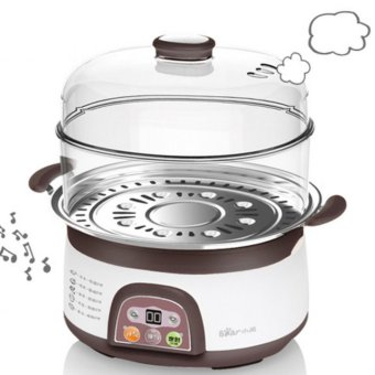 Harga Bear electric steamer DZG-3122 double stainless steel 6L large capacity (Brown) - intl
