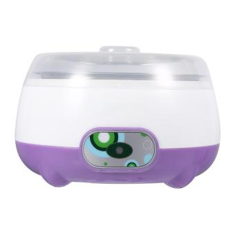 220V 1L Automatic Stainless Steel Yogurt Maker Machine DIY Yoghourt Container Purple - intl