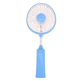 Harga Foldable Battledore Fans USB Rechargeable Mini Desk Fan(Blue) - intl