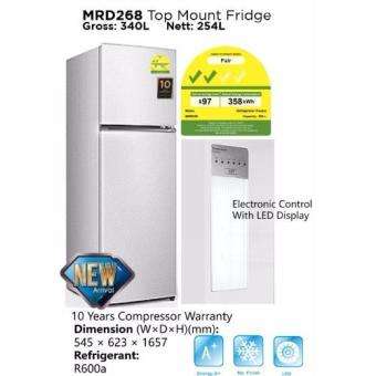 midea 254l 2 door fridge mrd268