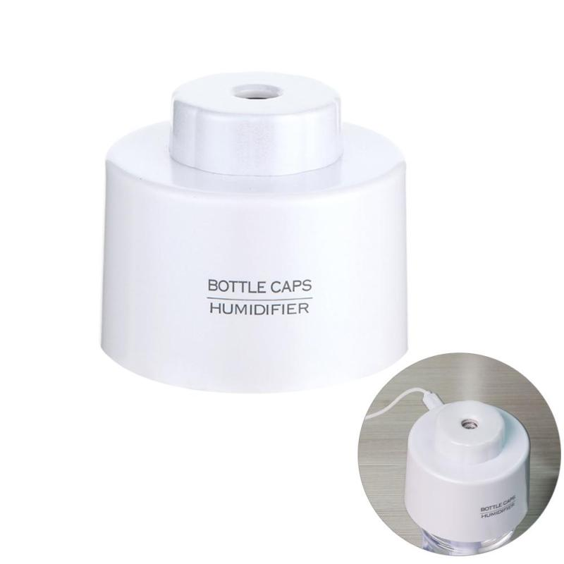 LED Light USB Bottle Caps Humidifier Air Diffuser Aroma Mist Maker(White) - intl Singapore