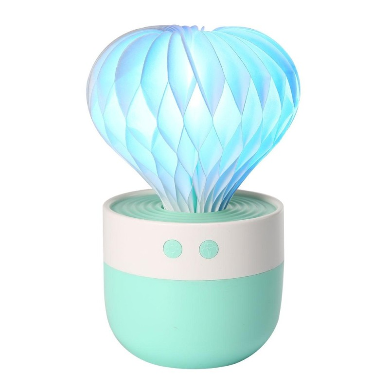 leegoal Cool Mist Humidifier, Mini Portable 7 Color LED Lights, Auto Shut-off For Home Bedroom Baby Room Office (Green) - intl Singapore