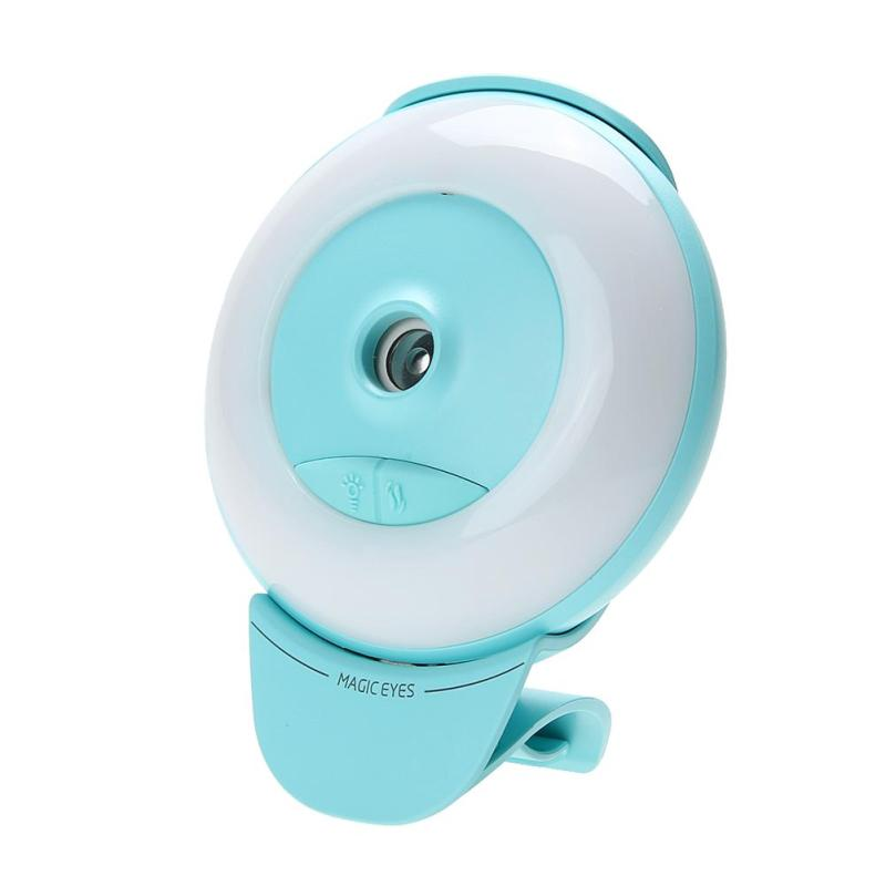 Mini Luminous Humidifier USB Nano Mister Facial Moisturizing Spray (Green) - intl Singapore