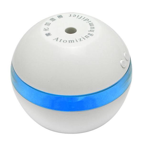 Mini USB Car Humidifier Air Purifier (White/Blue) - intl Singapore