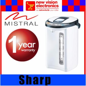Mistral MAP408 4L Electric Thermal Airpot . 1 Year Warranty. PSB Safety Mark Approved.