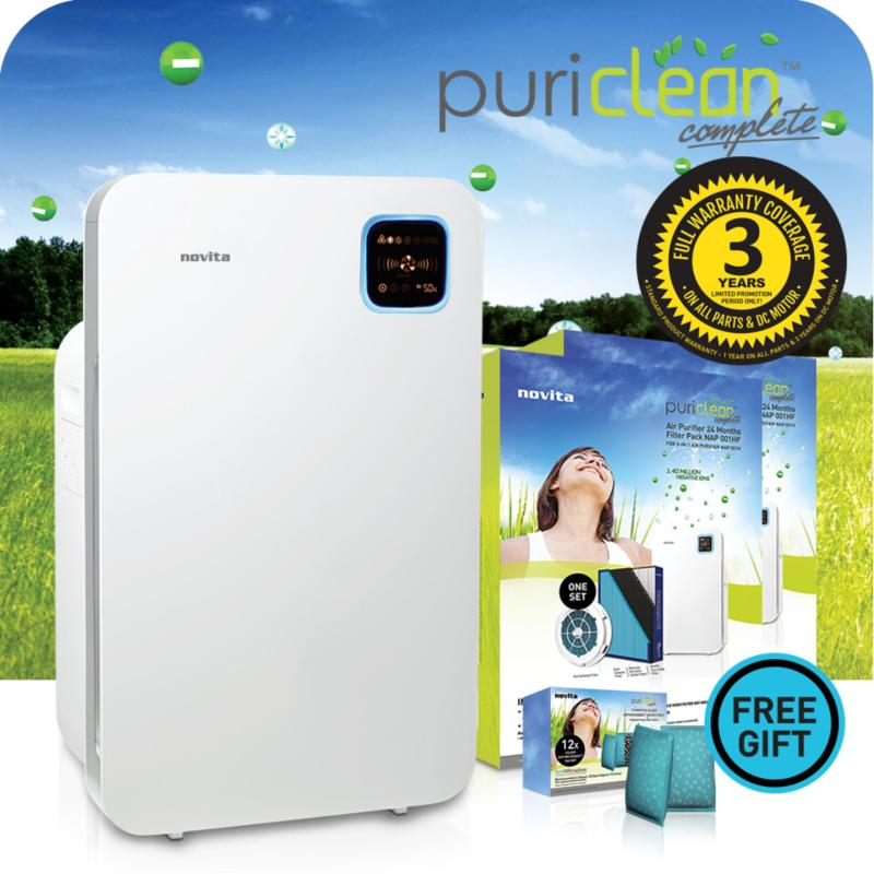 novita PuriClean Complete™ 3-In-1 Air Purifier NAP001H + 2 x Replacement Filter Pack + 3 Years Full Warranty Singapore