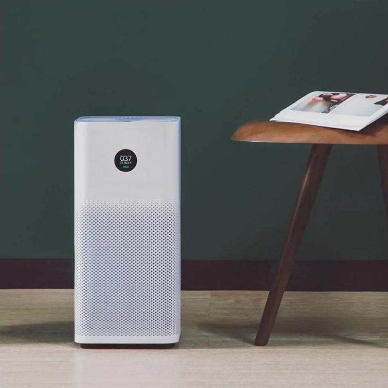 Original Xiaomi OLED Display Smart Air Purifier 2S Smoke Dust Peculiar Smell Cleaner White AU Plug - intl Singapore