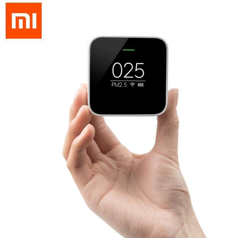 Original Xiaomi PM 2.5 Air Detector Portable OLED screen Wifi 2.4GHZ Use With Air Purifier Air Quality Monitoring - intl Singapore