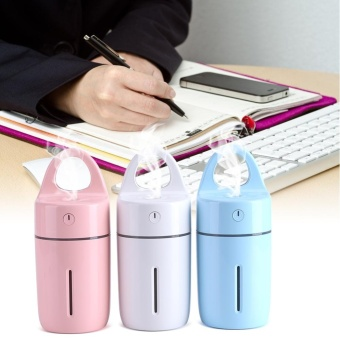 Portable Car Home USB Colorful Night Light Cup Shape Humidifier AirDiffuser Mist Maker (Blue) - intl - 5
