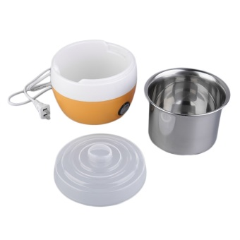 Stainless Steel Automatic Yogurt Maker DIY Delicious Yoghurt Container (Orange)