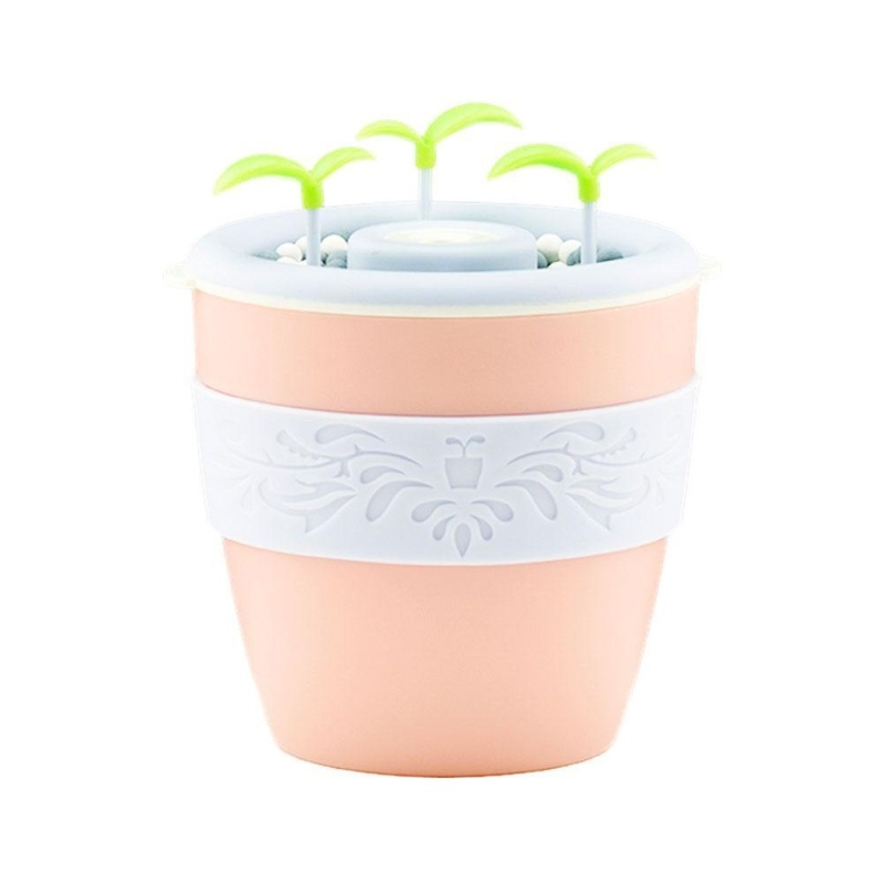 svoovs Office Humidifier, 200ml Anion Potted Plant Diffuser Ultrasanic Cool Mist Air Purifier, Cool Mist Essential Oil Mixture Moisture for Office Home Bedroom Cyan - intl Singapore