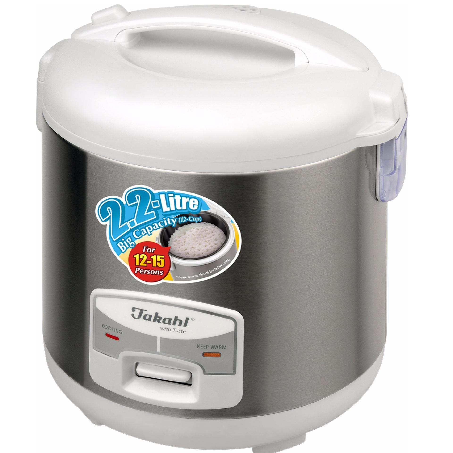 ... Takahi 1630 12-Cup Electric Rice Cooker With Warmer (SilverGrey/White) ...