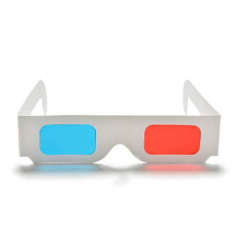 10Pc X Universal Anaglyph Cardboard Paper Red Blue Cyan 3D GlassesFor Movie - 5
