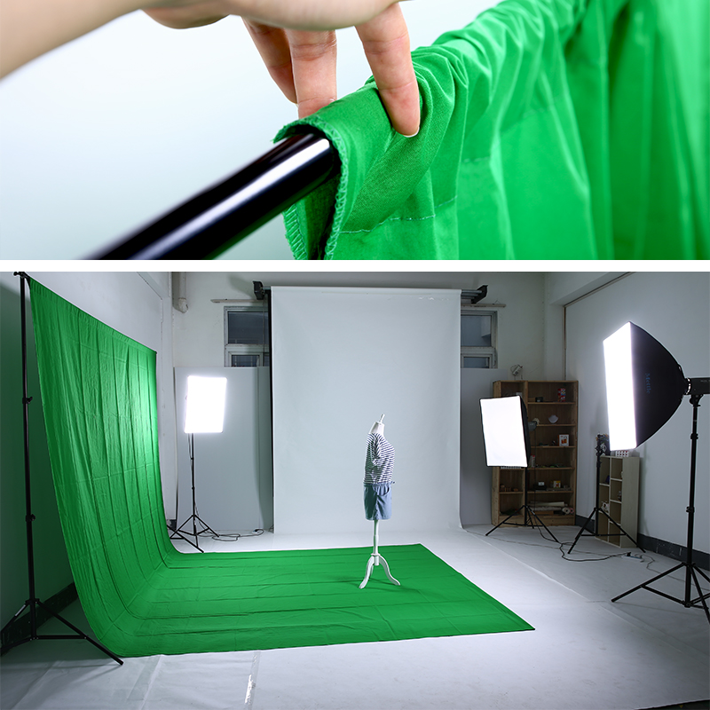 1.8*2.7 m photography green cloth cotton keying cloth
