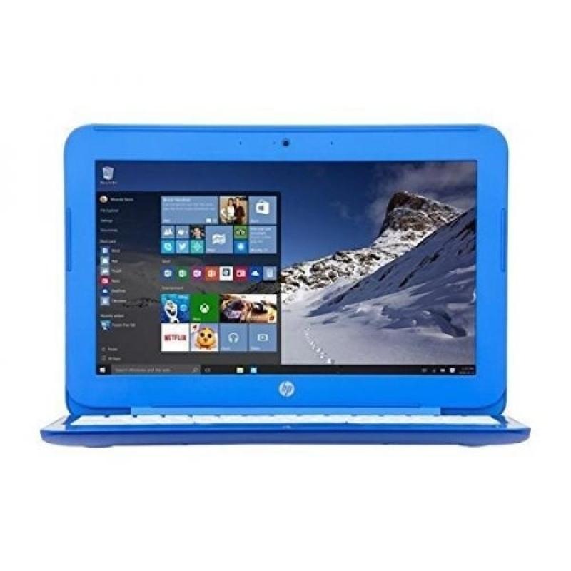 2016 Model HP Stream 13.3-inch HD Laptop | Intel Dual-Core | 2GB RAM | 32GB SSD | 1 Year Office 365 | Bluetooth | WiFi w/ Miracast | WebCam | Windows 10 (Blue) - intl