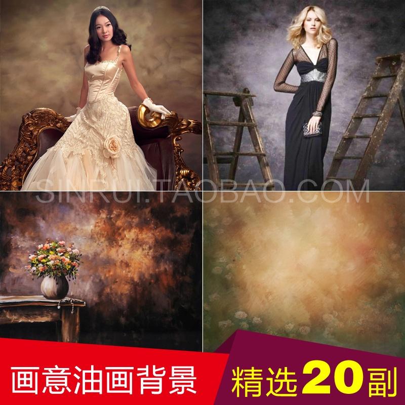 2017 New style painting oil painting wedding photography backgroundcloth studio theme photo photography shop photographed BackgroundPaper