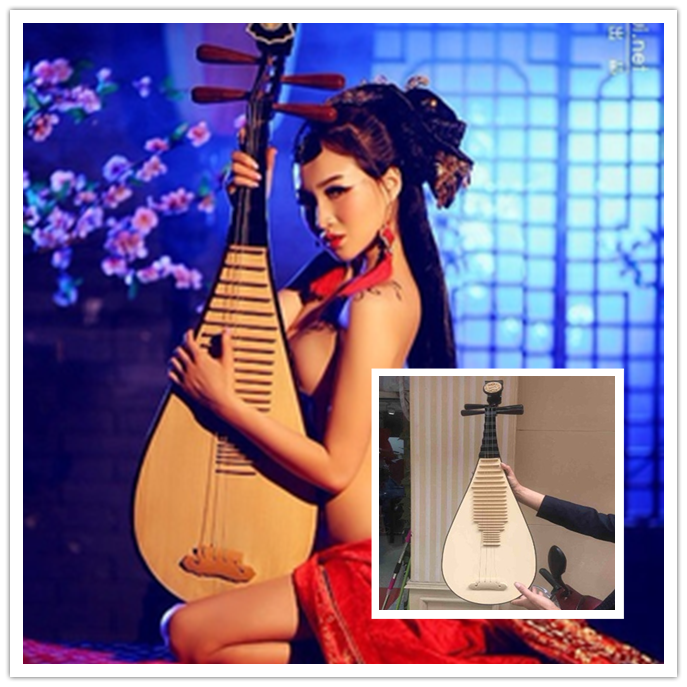 2017 New style Plate woman square costume photography props dancestage performances PIPA plastic lute simulation Lute