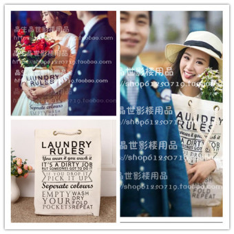 2017 studio wedding photography clothing props on location wild theme photography props classic letter hand bag