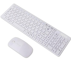 2.4G wireless ultra-thin general-purpose desktop office notebook notebook mouse and keyboard suit - intl Singapore