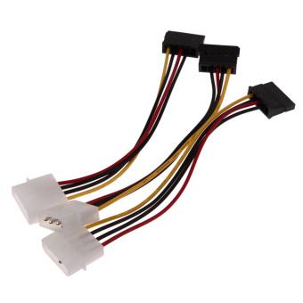 3 IDE to Serial ATA SATA Hard Drive Power Adapter Cable (Intl) - Intl - 3