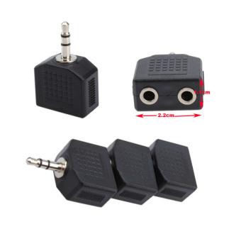 3 X 3.5mm to 3.5mm Audio Earphone Jack Splitter Adapter - 3