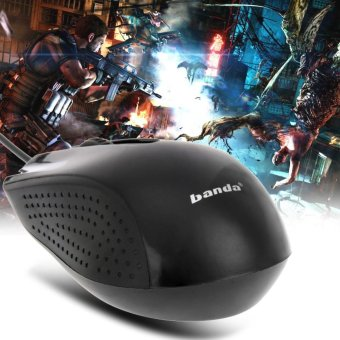 3D Optical USB Wired 1600 DPI Ergonomic Gaming Mouse(Black) - intl Singapore