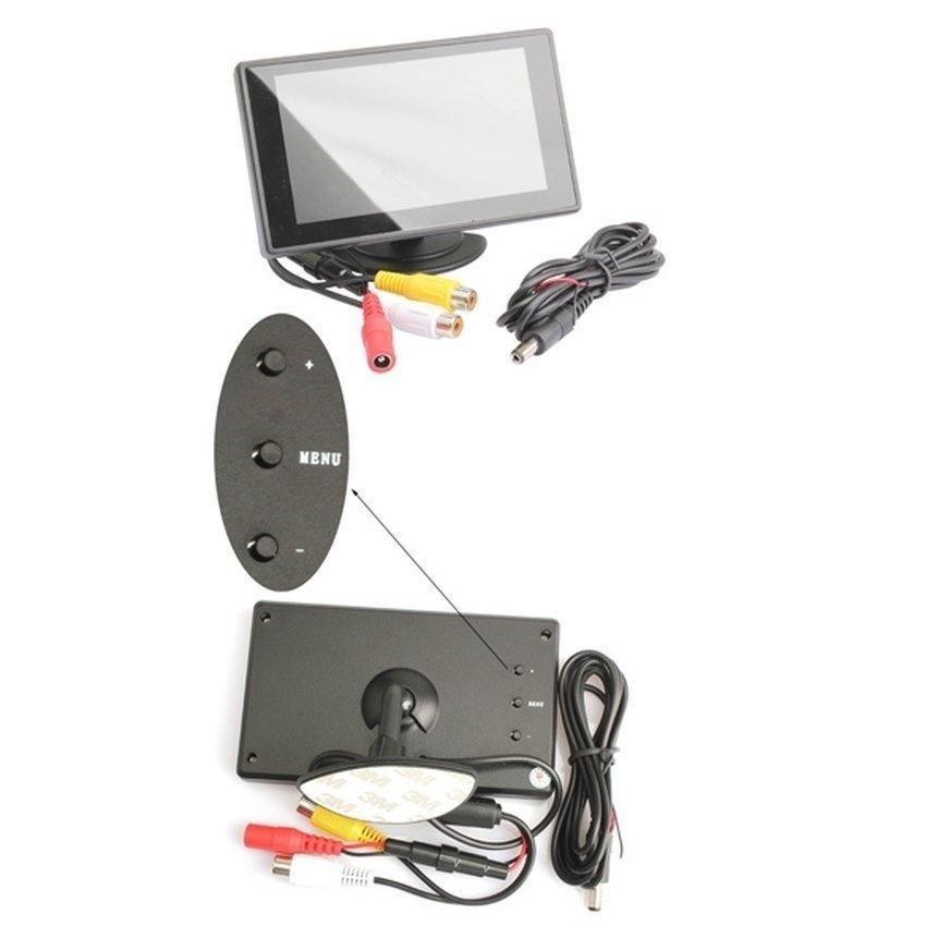 4.3 inch TFT Car Monitor Dashboard LCD Rear ViewReverseBackupCamera Black - intl