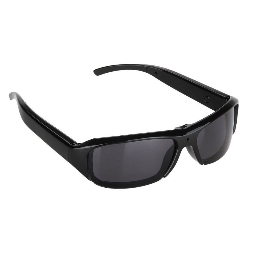 720P 5MP HD Polarized Spy Sunglasses With Hidden Camera Black - intl