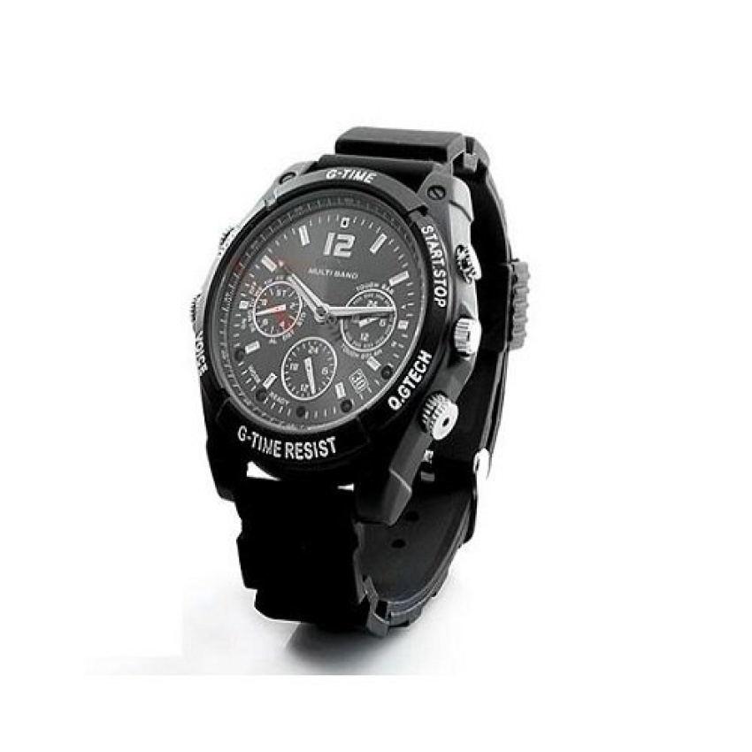 720P Spy Watch Camera WCH-12C With Night Vision (Black)(x3) - intl