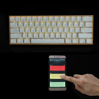 Anne PRO Brown Switch RGB Wireless Bluetooth Mechanical Gaming Keyboard - intl