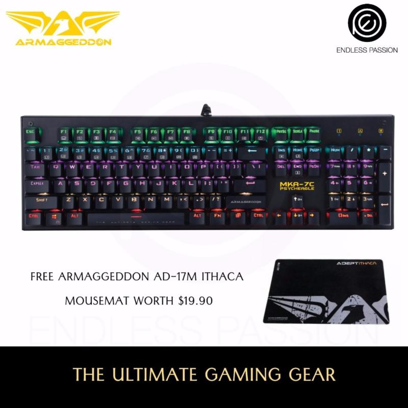 Armaggeddon MKA-7C Psycheagle Mechanical Keyboard (2017) with FREE AD-17M Mousemat Singapore