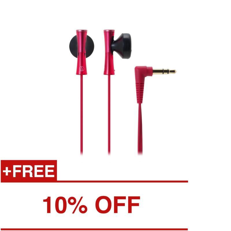 Audio-Technica ATH-J100 In-Ear Headphones Red Singapore