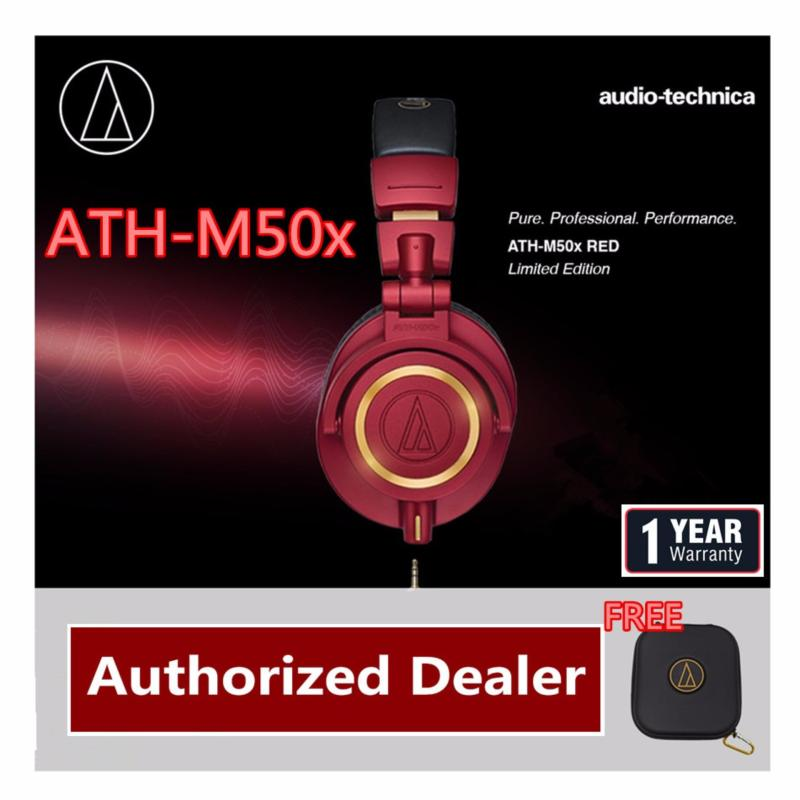 Audio-Technica ATH-M50x Limited Edition (RED)Professional Studio Monitor Headphones Singapore