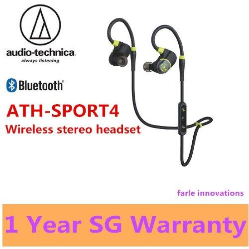Audio Technica  ATH-SPORT4 Sonic Sport Wireless Stereo Headset (Red) Singapore