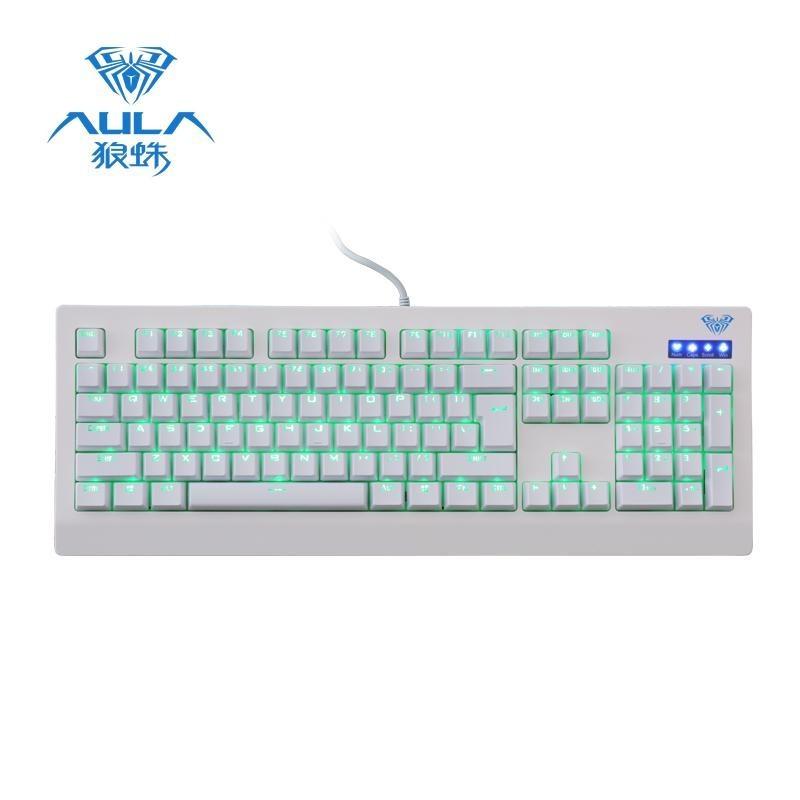 AULA Demon King Mechanical Blue Switches Wired USB Gaming Keyboard 104 Keys LED Backlight - intl Singapore