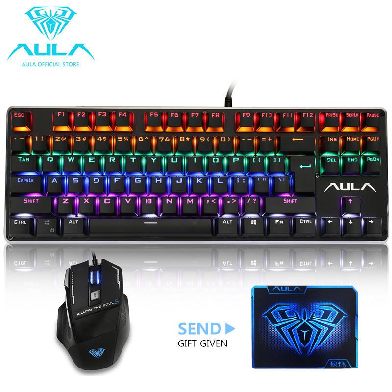 AULA OFFICIAL F2012 Backlit Gaming Keyboard&Killing SoulⅡ Gaming Mouse Combo(Black) Singapore